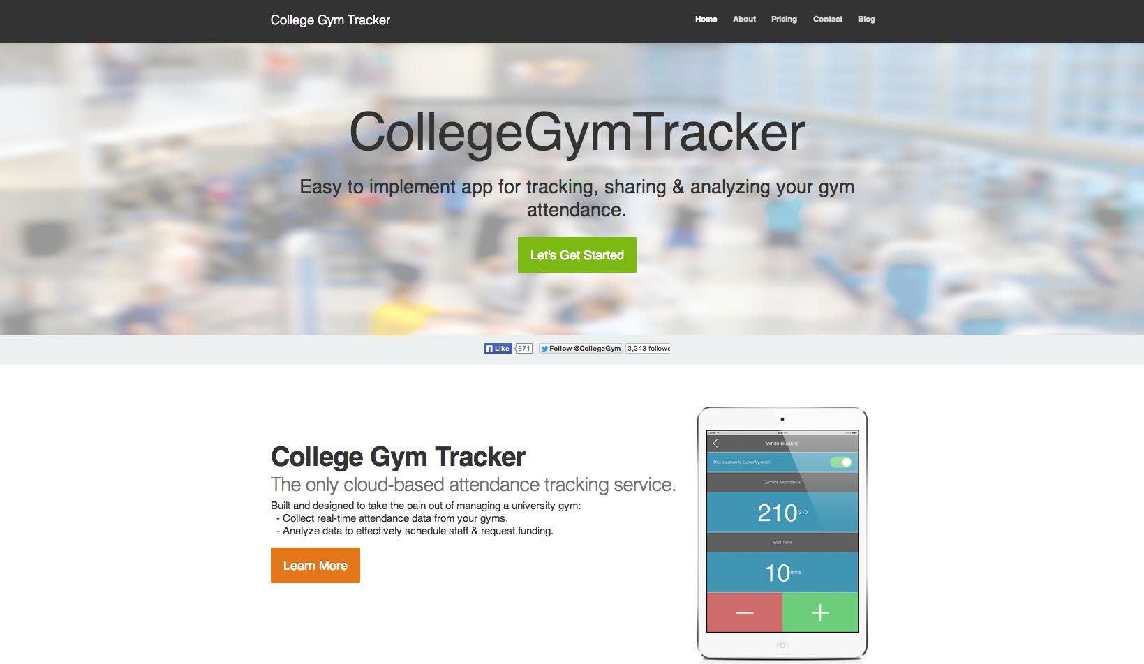 College Gym Tracker